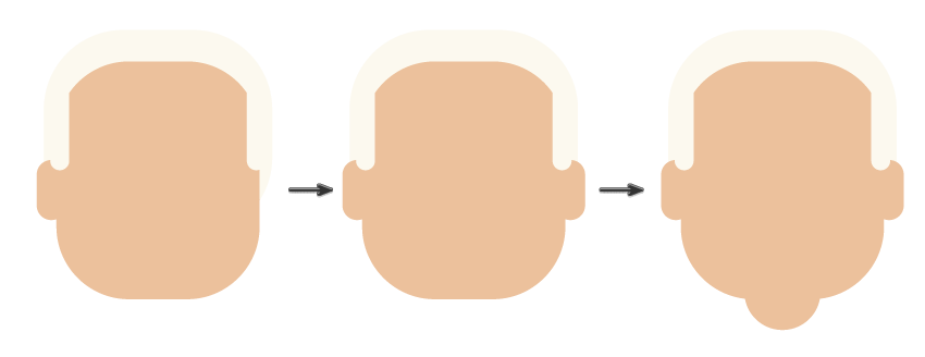 how to create the ears and neck