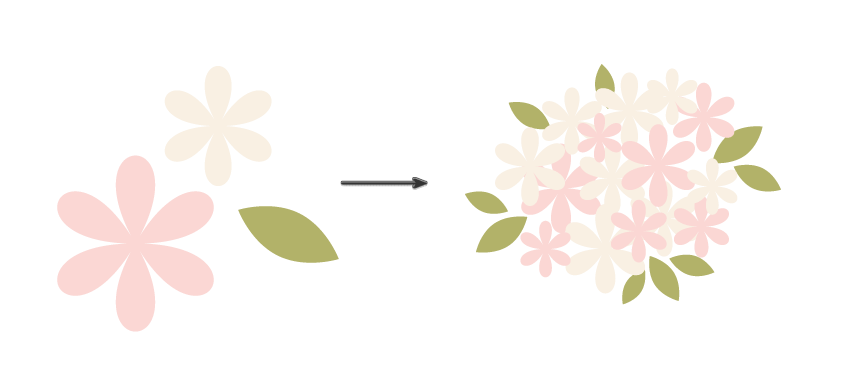 how to create the bouquet