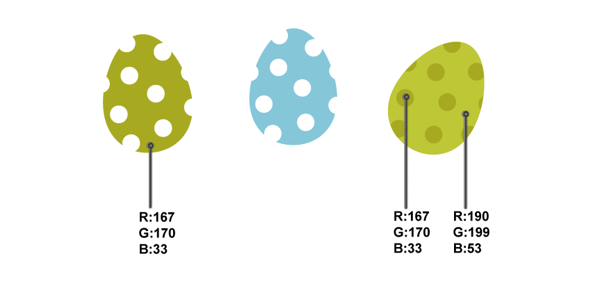 dotted eggs