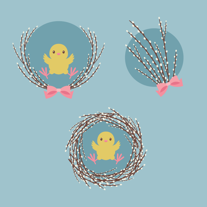 Quick Tip: How to Create an Illustration of Pussy Willow With a Chick in Adobe Illustrator