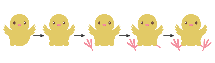 how to create the chicks legs