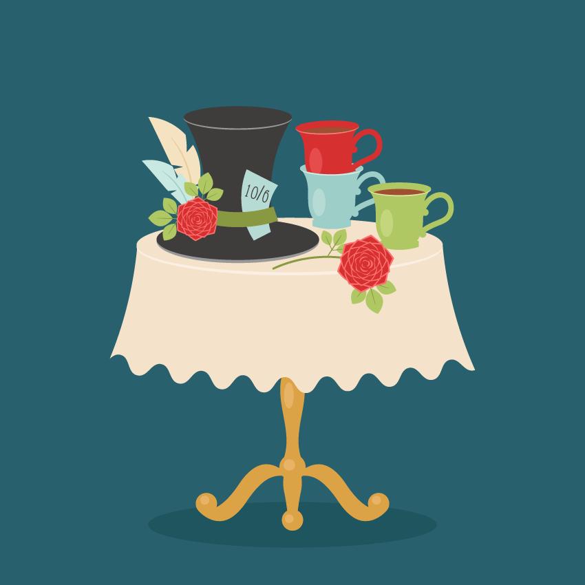 How to Create an Alice in Wonderland Tea Party Scene in Adobe Illustrator