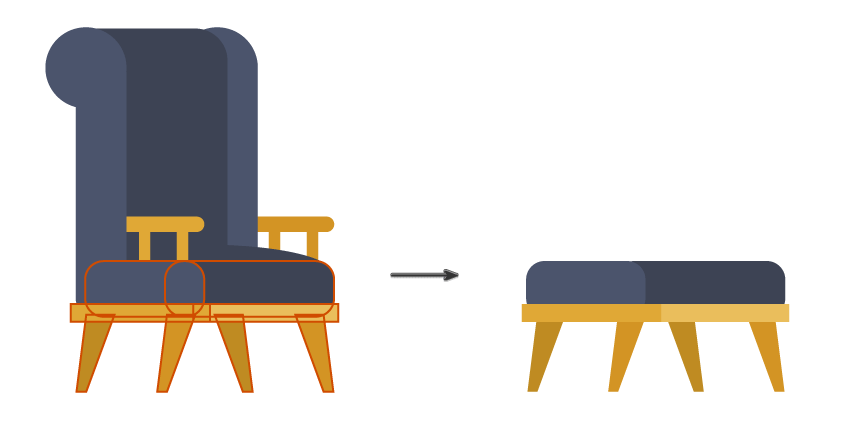 how to create the padded stool