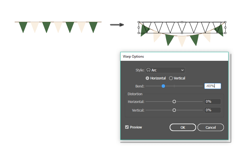 how to warp the banner