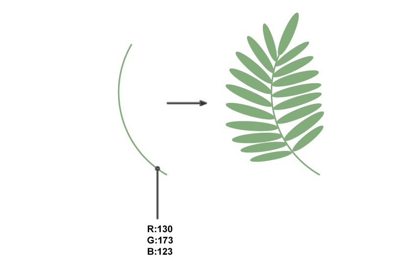 how to create the palm leaf