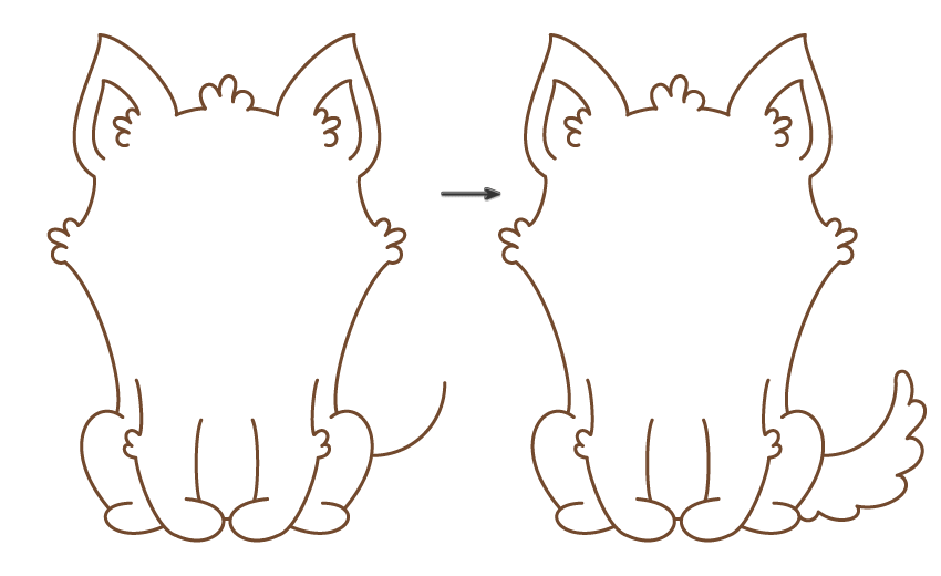 how to draw the tail