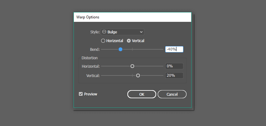 Bulge effect options