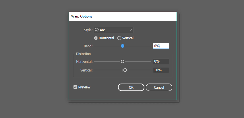Arc effect options