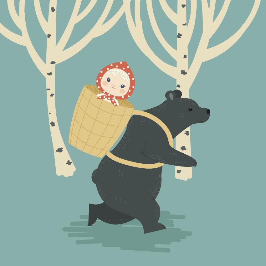 Как создать Машу и Медведя в Adobe Illustrator