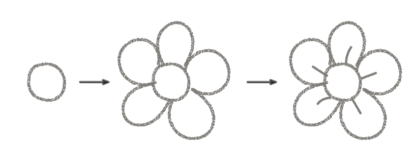 how to draw a flower using the illustrator texture brush
