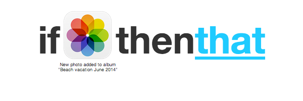 Select Action in IFTTT