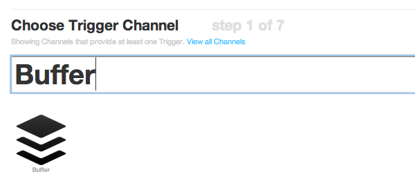 Find the Buffer channel