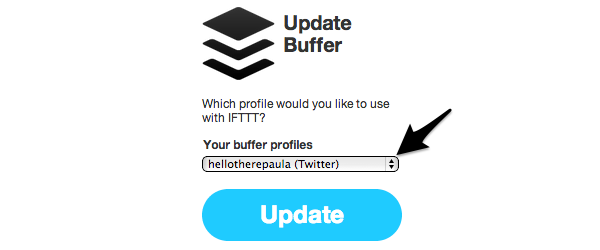 Choose the relevant Buffer profile