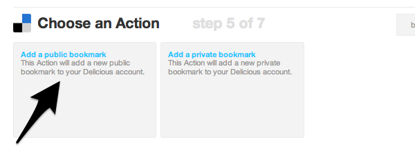 Add a public or private bookmark