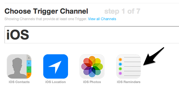 Find the iOS trigger and activate it if necessary