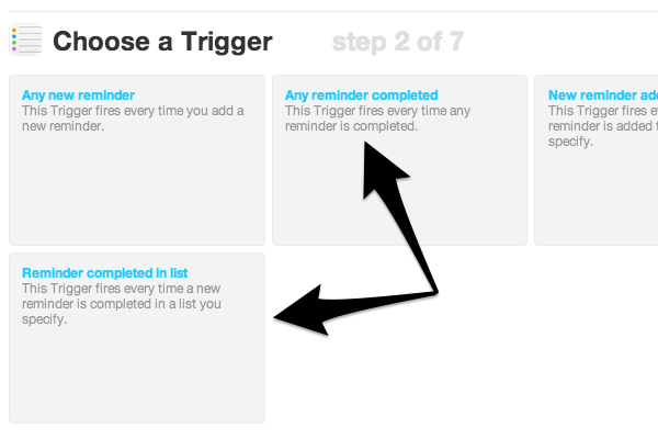 Choose the trigger that works best for you