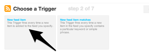 Decide how IFTTT will pull feed items