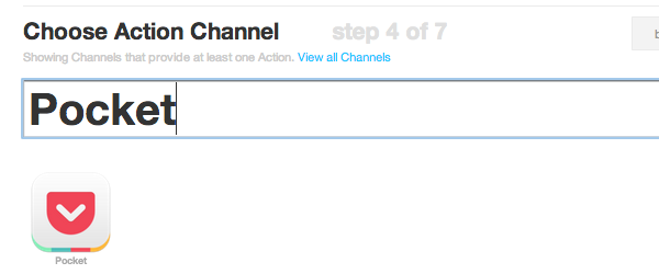 Select the Pocket channel