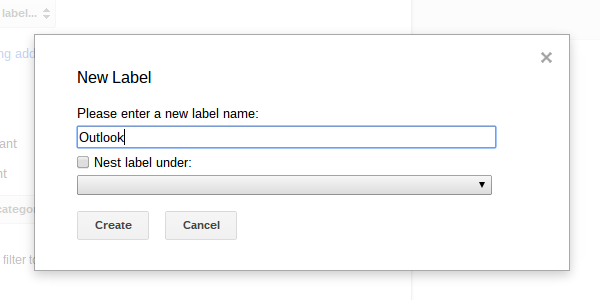 Create a new label