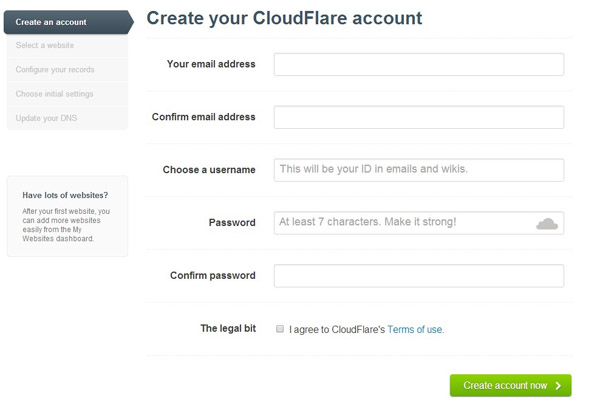 Configuring CloudFlare Part 1