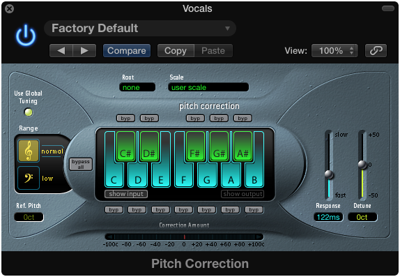 The Pitch Correction Tool in Logic