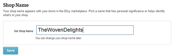 Naming Your Etsy Shop