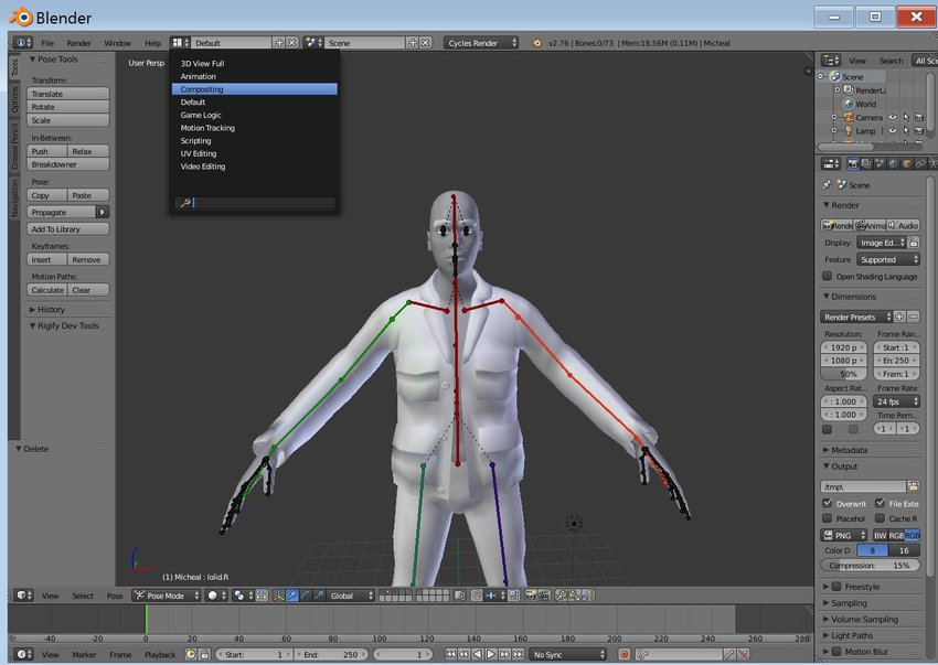 Animating a MakeHuman Character in Blender, Part 1