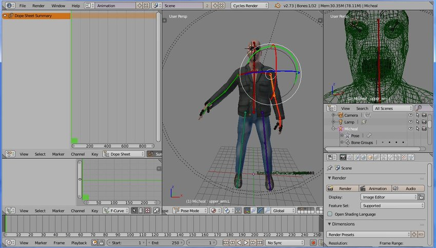 Animating a MakeHuman Character in Blender, Part 2