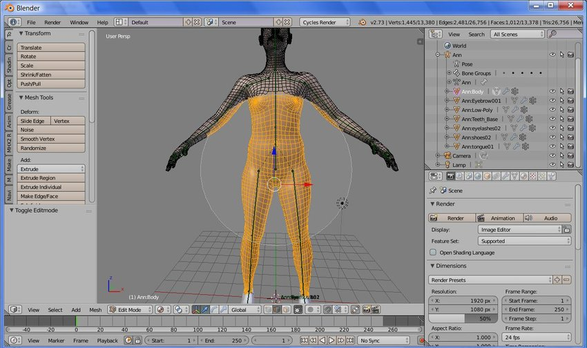 Create Clothing for a Character WithBlender