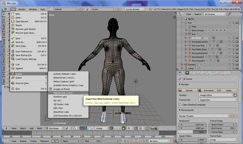 Create Clothing for a Character With Blender