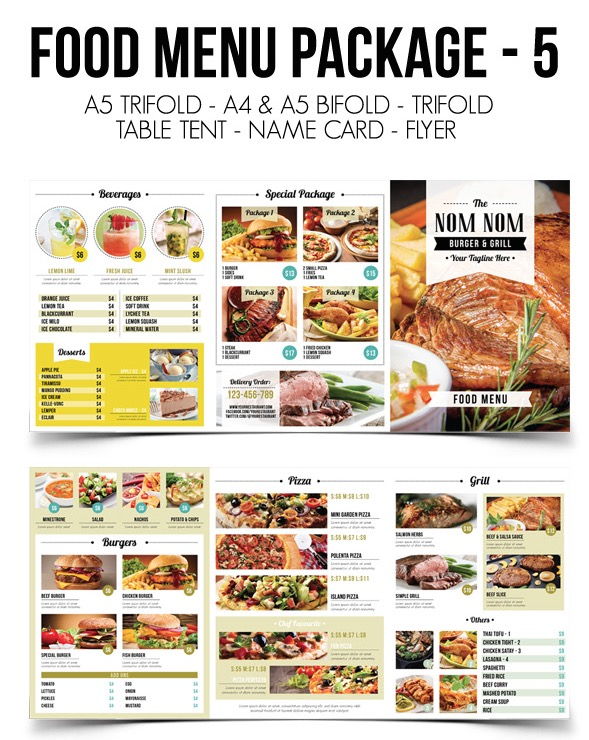 Restaurant Menu Templates With Creative Designs - Delivery menu template