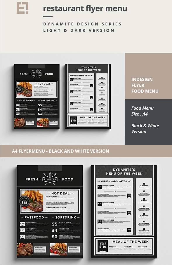 27 Restaurant Menu Templates With Creative Designs on