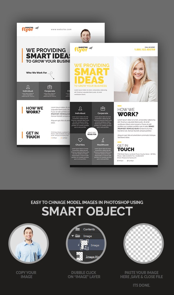 20 business flyer templates with creative layout designs for Product design marketing