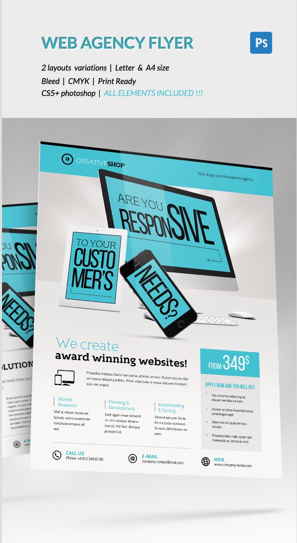 Creative Web Design Agency Flyer
