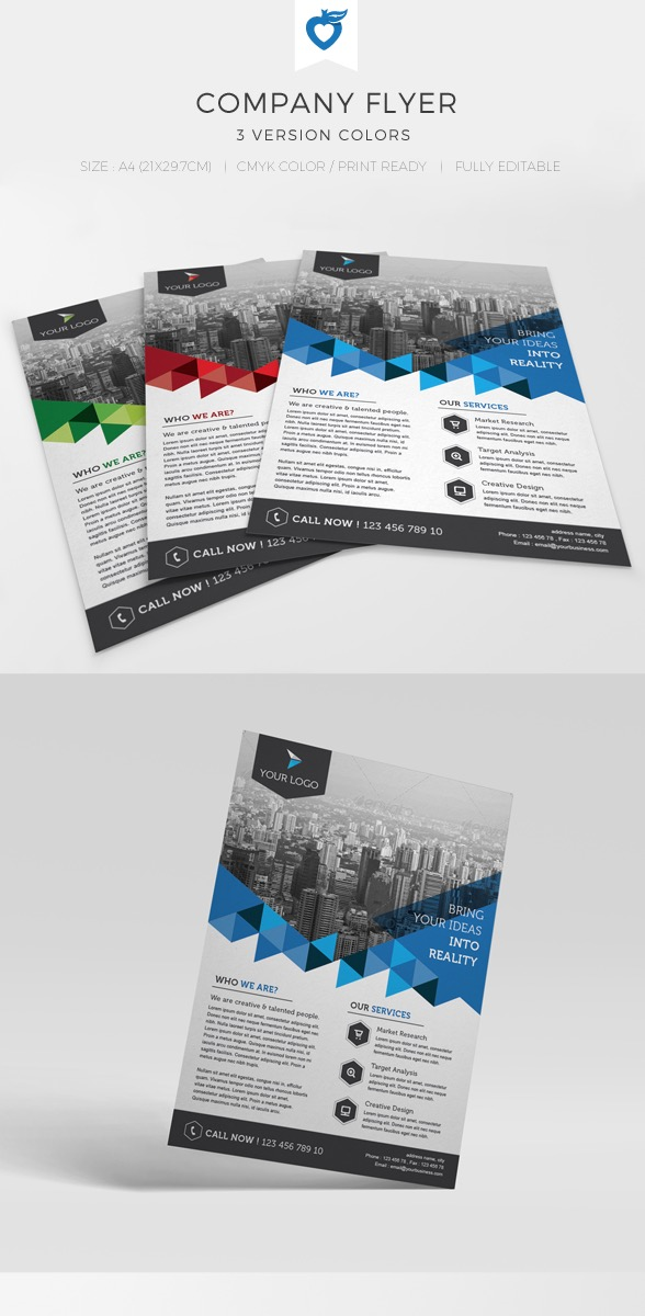 20 business flyer templates with creative layout designs company flyer design template accmission