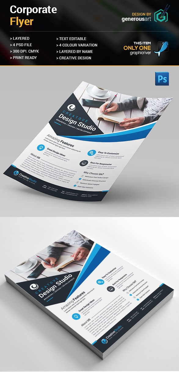 Business Flyer Templates With Creative Layout Designs