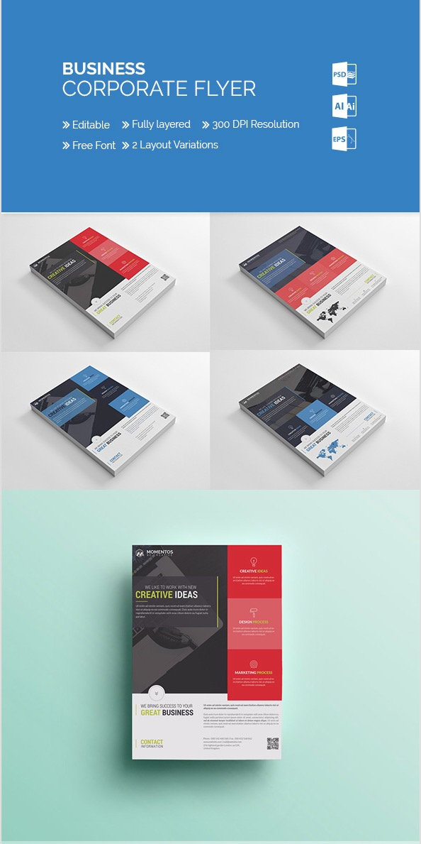 20 business flyer templates with creative layout designs momentstudio corporate business flyer friedricerecipe Gallery
