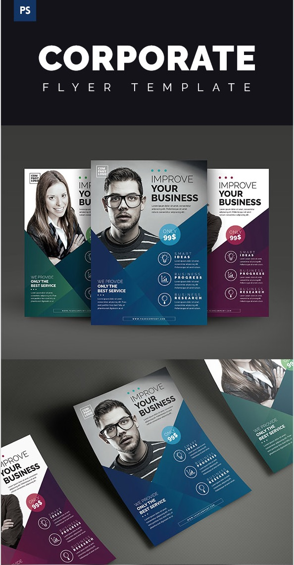 20 Business Flyer Templates With Creative Layout Designs – Conference Flyer Template