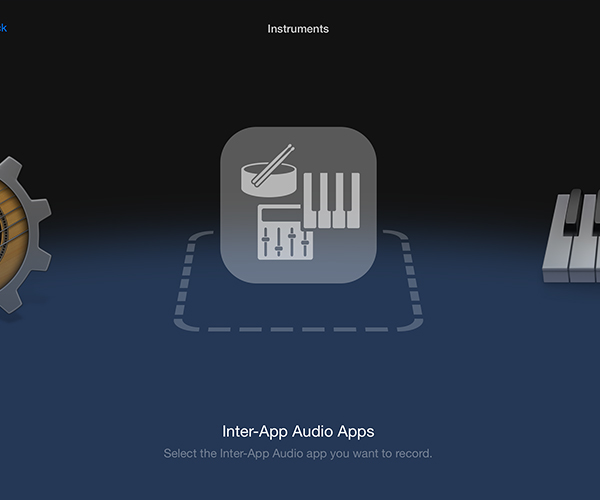 Inter-app Audio will be an option inside any compatible app if there are also other compatible apps on your device