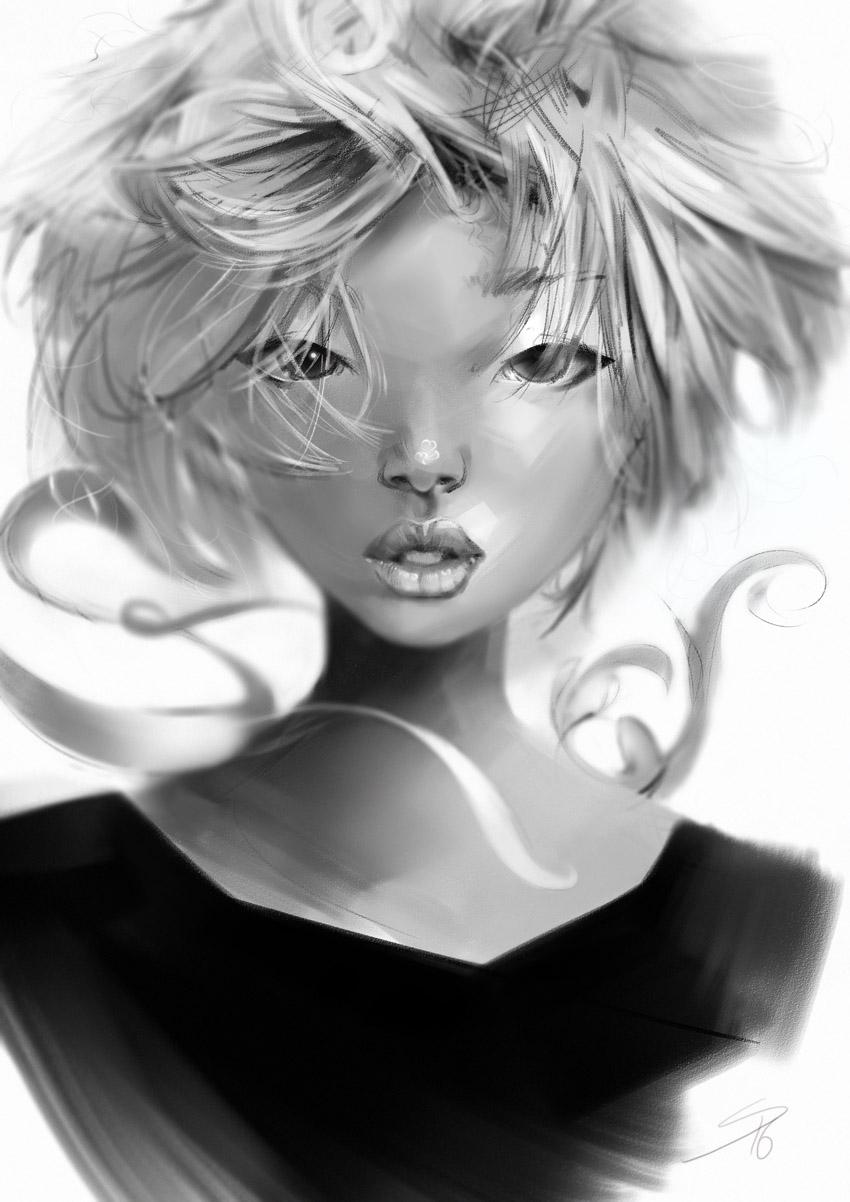 Как создать портрет в инструменте Paint Tool SAI с 3 Awesome Brushes