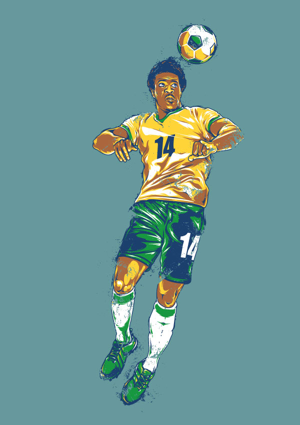 Create a Retro Footballer in Adobe Illustrator for the World Cup