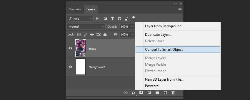 Creating the smart object