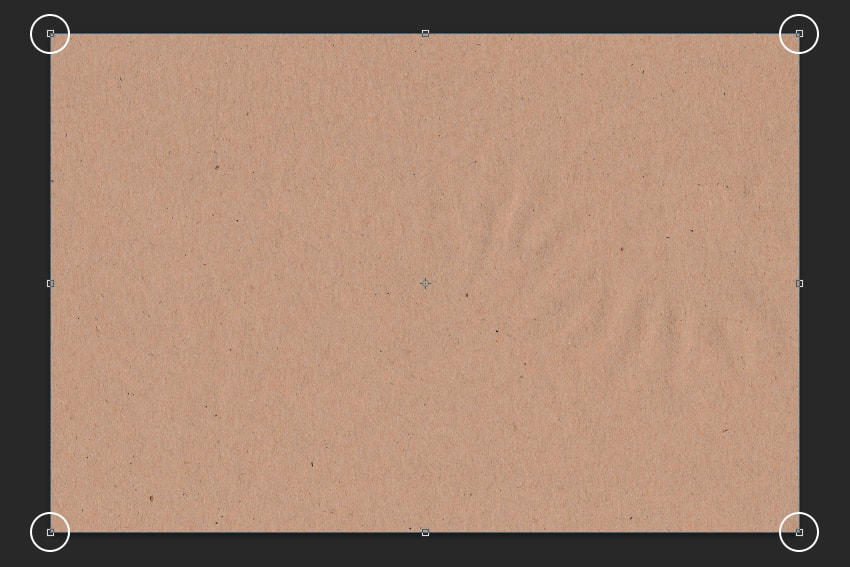 Resizing the image to the borders  How to Create a Dusty Texture FromScratch 2 Step 3 min