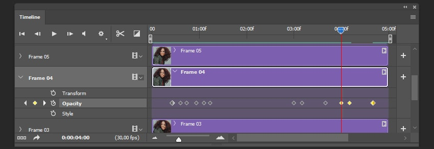 Creating a copy of keyframes