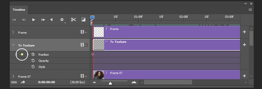 Creating animation for Tv Texture