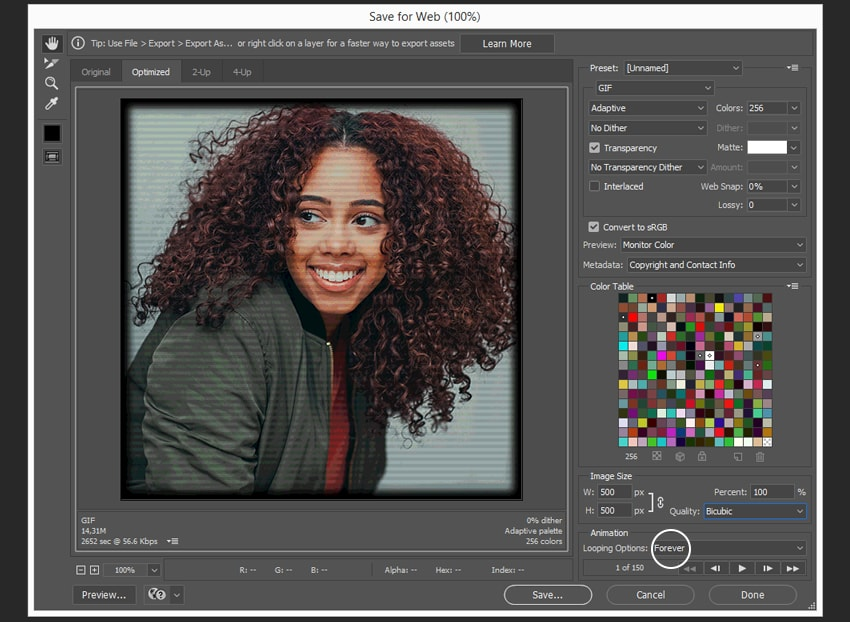 How to Create a Glitch Animated Gif Action in Adobe Photoshop