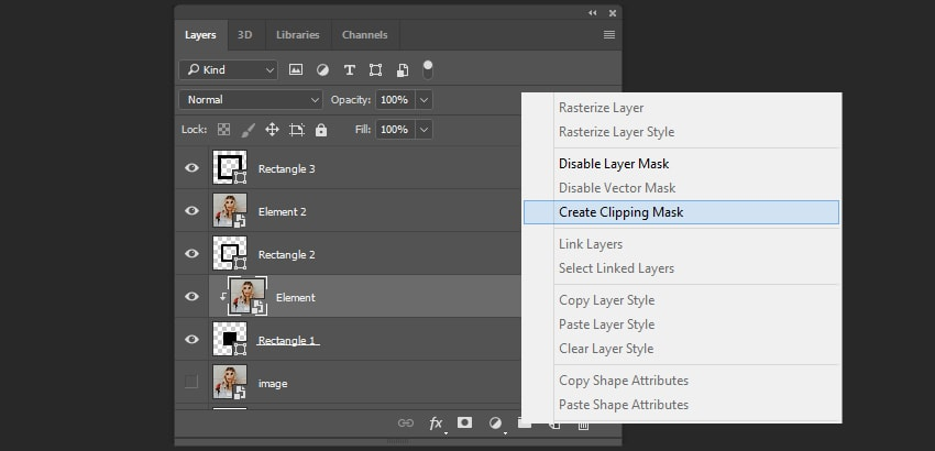 Creating the clipping mask