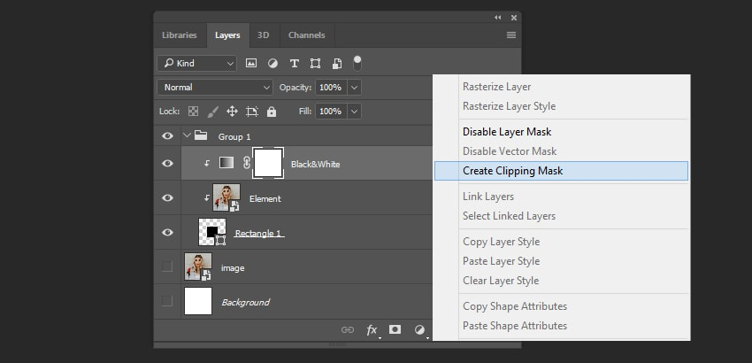 Creating clipping mask