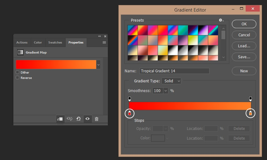 Creating gradient map