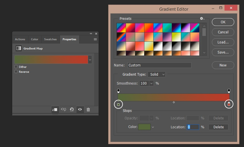 Creating last gradient map